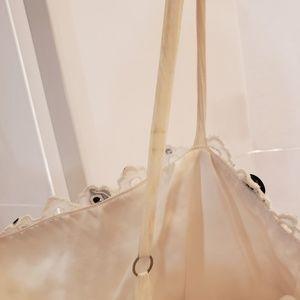 BCBGMaxAzria Dresses - BCBG Maxazria black and white eyelet dress sz M